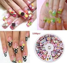 1200pcs wheel mixed nail art tips glitters rhinestones www