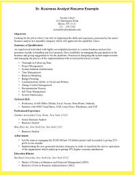 Sample Financial Resume by Business Analyst Resume Example Resume Template 2017