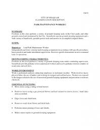 Janitor Resume Duties Sample Resume Hotel Maintenance Worker Template