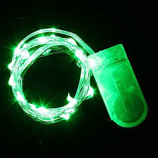 battery operated green led light