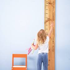 wall mounted height measure personalised wooden ruler height chart u0027kids rule u0027 by lovestruck