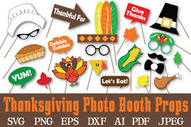 thanksgiving photo booth props thanksgiving photo booth props svg c design bundles