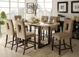 bar height dining table set oak wood chairs unify leather