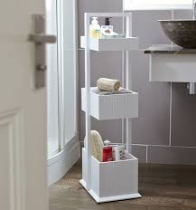 White Wooden Bathroom Furniture Shaker Style Bathroom Storage Caddy Homex Household Item From