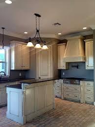 best 25 brick floor kitchen ideas on wood cabinets
