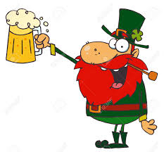 lucky leprechaun toast with a mug of beer royalty free cliparts