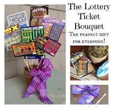 lottery bouquet cute silent auction idea gift ideas gifts