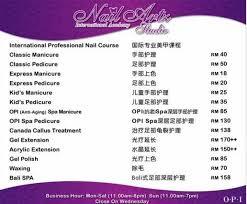 nail artz studio manicure pedicure nail course melaka