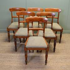 antique oak dining room chairs unusual set of six country satin birch victorian dining chairs