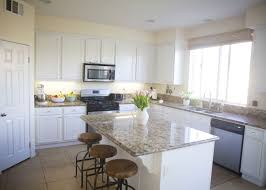 White Kitchen Cabinets With Gray Granite Countertops Kitchen Cabinets White Cabinets With Blue Granite Countertops