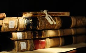 stack of old books macro photo and wallpaper
