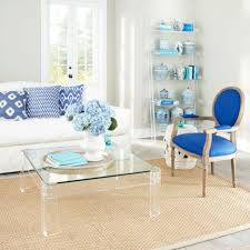 coffee tables simple clear coffee table waterfall lucite design
