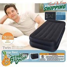 embark double high twin air mattress with built in pump ebay