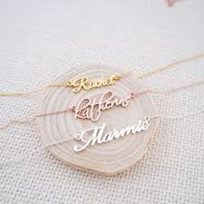 Mom Necklaces With Children S Names The 25 Best Name Necklace Ideas On Pinterest Bar Necklace