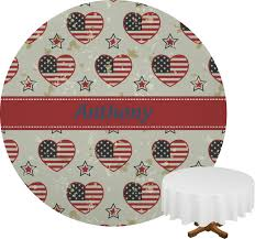Fourth Of July Tablecloths by Americana Round Tablecloth Personalized Baby N Toddler
