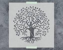tree stencil etsy
