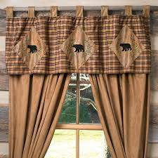 Country Rustic Curtains Green Plaid Curtains With Plain Valance Google Search Home New