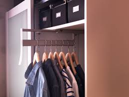 Closet Solutions Shallow Closet Ideas When It U0027s Not Deep Enough For Hangers