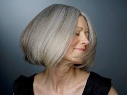 fine graycoming in of short bob hairstyles for 70 yr old yes it s possible how to go gray without looking older short