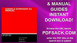 evenflo symphony e3 manual video dailymotion