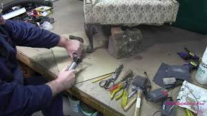 change upholstery on chair upholstery how to repair a damaged chair leg youtube