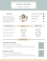 Interior Design Resume Astounding Design Resume Design 9 Free Online Resume Maker