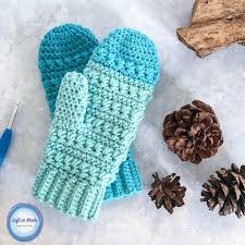 crochet pattern using star stitch snow drops mittens free crochet pattern left in knots