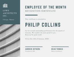 employee of the month certificate templates canva