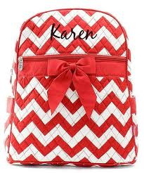 personalized chevron quilted kid s backpack gifts