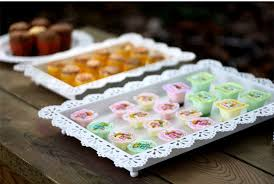 wedding serving trays wedding dessert rectangle caketray iron lace biscuits plate mug up