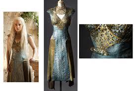 khaleesi costume khaleesi s costume from the costume designer michele clapton for