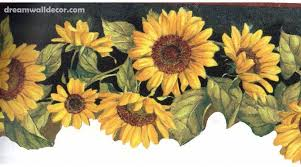 cool sunflower wallpaper borders 39 for your interior design ideas