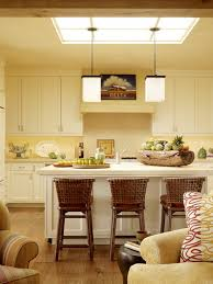 Butter Yellow Kitchen Cabinets Skylight U0026 Pendant Light Upper Cabines Too Tall Kitchen Reno