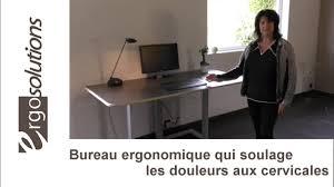 hauteur bureau ergonomie bureau ergonomique avec écran réglable en hauteur