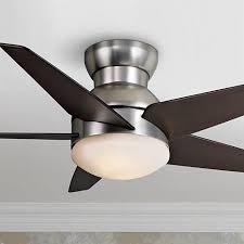casa elite hugger fan 44 casablanca isotope brushed nickel hugger ceiling fan 2y525