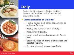 cuisine characteristics international foods презентация онлайн