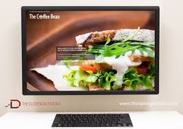 website design for cafe restaurant the dj design studio