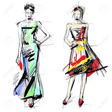 fashion sketch images u0026 stock pictures royalty free fashion
