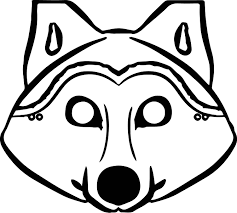 3 pigs wolf mask coloring pages wecoloringpage