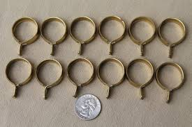 vintage solid brass curtain rings oval u0026 round curtain clips for