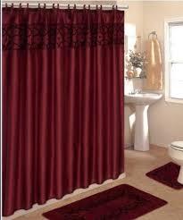 Burgundy Bathroom Rugs 4 Bathroom Rug Set 3 Burgundy Flocking
