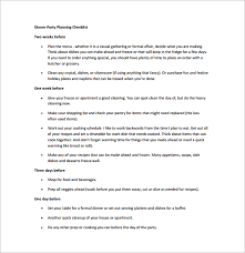 10 party planning templates u2013 free sample example format
