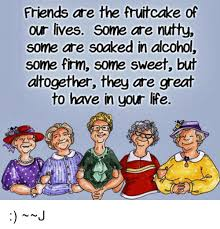 Fruitcake Meme - friends are the fruitcake of our lives some are nutty some are