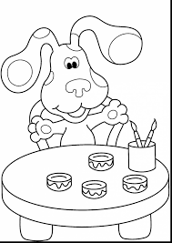 remarkable blues clues coloring pages with disney jr coloring