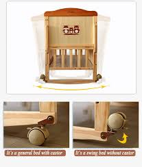 adjustable solid pine wood material baby crib bed baby crib
