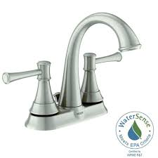 Moen Bath Faucets Moen Adler 4 In Centerset 2 Handle Low Arc Bathroom Faucet In