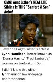 Aunt Esther Meme - omg aunt esther s real life sibling is this sanford son actor