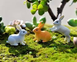 rabbit garden 2018 rabbit garden figurines gnomes for terrariums resin craft
