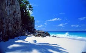papier peint bureau pc fond ecran hd plage blanc white sands rêve papier