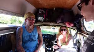 pink volkswagen van inside cool couple live in awesome vw van tour and interview youtube